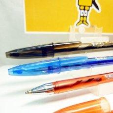 Bolígrafos antiguos: BIC, 3 ANTIGUOS BOLIGRAFOS ROLLER CRISTAL GEL MEDIUM. Lote 244401595