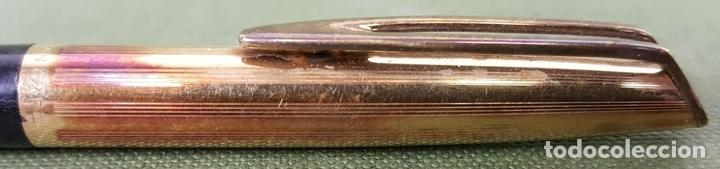 Bolígrafos antiguos: BOLIGRAFO. WATERMAN C/F. CAPUCHON CHAPADO EN ORO 18K. CIRCA 1950. - Foto 2 - 123309039