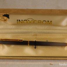 Bolígrafos antiguos: BOLIGRAFO INOXCROM CHAPADO EN ORO 24K. Lote 126316879