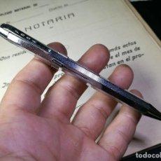 Bolígrafos antiguos: ANTIGUO BOLÍGRAFO MECANICO MARCA ESPAÑOLA FOCA -4 COLORES-CROMADO-IMPECABLE. Lote 133895202