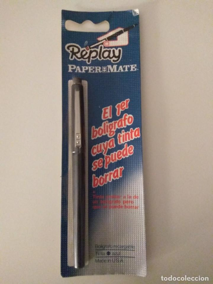BOLÍGRAFO PAPER MATE REPLAY BURDEOS (Plumas Estilográficas, Bolígrafos y Plumillas - Bolígrafos)