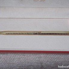 Bolígrafos antiguos: BOLÍGRAFO S. T. DUPONT CHAPADO EN ORO. COMO NUEVO.. Lote 138006082