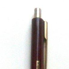 Bolígrafos antiguos: BOLÍGRAFO SENATOR CON PUBLICIDAD V 16, ACCIÓN ANTIBIÓTICA, DOBLE ACCIÓN. (TINTA AGOTADA O SECA). Lote 138894046