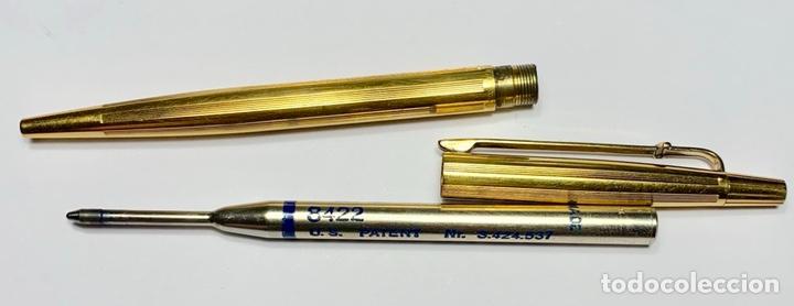 Bolígrafos antiguos: Bolígrafo Madison Caran D'Ache Swiss - chapado en oro 18 quilates - Foto 6 - 142547898