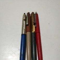 Bolígrafos antiguos: LOTE 4 BOLÍGRAFOS ANTIGUOS MARCA BOLIN. Lote 143900812