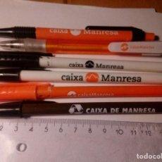 Bolígrafos antiguos: CAIXA MANRESA LOTE DE 6 BOLÍGRAFOS DIFERENTES PUBLICITARIOS DE CAIXA MANRESA. Lote 144260902