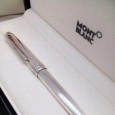 Bolígrafos antiguos: BOLIGRAFO MONT BLANC MEISTERSTUCK PLATA 925 EN SU ESTUCHE Y SU CAJA NUEVA. Lote 147702652