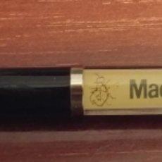 Bolígrafos antiguos: BOLIGRAFO METRO DE MADRID METRO A METRO TREN MOVIL EN INTERIOR RARO. Lote 147104642
