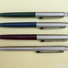 Bolígrafos antiguos: CONJUNTO DE 4 BOLIGRAFOS INOXCRON...DECADA DE LOS AÑOS 70-80.. Lote 147324482