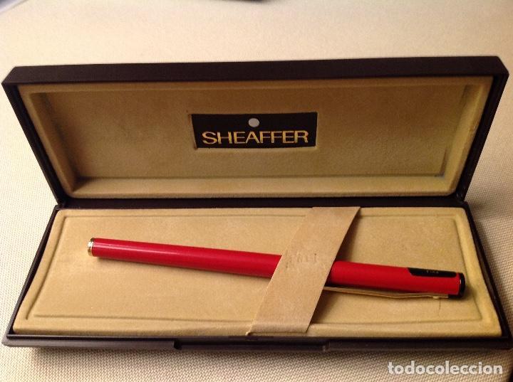 PLUMA SHEAFFER ROJO , (Plumas Estilográficas, Bolígrafos y Plumillas - Bolígrafos)