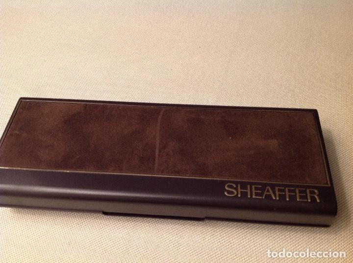 Bolígrafos antiguos: pluma SHEAFFER ROJO , - Foto 5 - 147637562