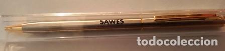 Bolígrafos antiguos: BOLIGRAFO DE PUBLICIDAD - SAWES - EN SU CAJA DE ORIGEN - - Foto 2 - 147717526