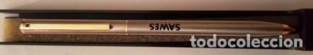 Bolígrafos antiguos: BOLIGRAFO DE PUBLICIDAD - SAWES - EN SU CAJA DE ORIGEN - - Foto 3 - 147717526
