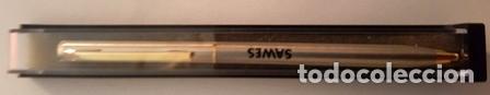 Bolígrafos antiguos: BOLIGRAFO DE PUBLICIDAD - SAWES - EN SU CAJA DE ORIGEN - - Foto 6 - 147717526