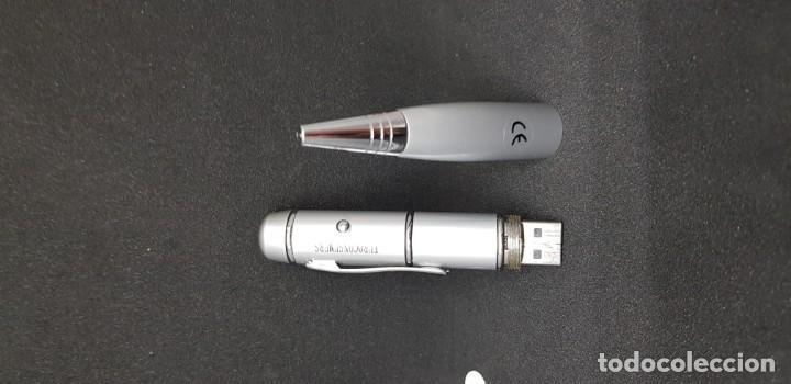 Bolígrafos antiguos: BOLÍGRAFO LINTERNA MEMORIA USB 128MB - Foto 2 - 147734114