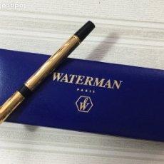 Bolígrafos antiguos: BOLÍGRAFO WATERMAN FRANCE CHAPADO DE ORO COMO NUEVO. Lote 148808524