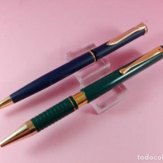 Bolígrafos antiguos: +4396-LOTE 2 BOLÍGRAFOS-PUBLICIDAD-EL VERDE STYB-CIERTA CALIDAD-FUNCIONANDO-VER FOTOS.. Lote 149262126