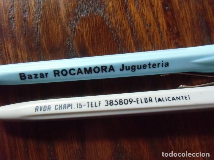 Bolígrafos antiguos: ELDA (ALICANTE)BAZAR-JUGUETERÍA-ROCAMORA-ANTIGUOS BOLÍGRAFOS PUBLICITARIOS. - Foto 2 - 150994230