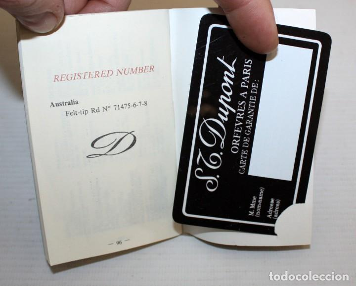 Bolígrafos antiguos: BOLIGRAFO S T DUPONT-CON ESTUCHE Y TARJETA DE AUTENTICIDAD. - Foto 9 - 152231550