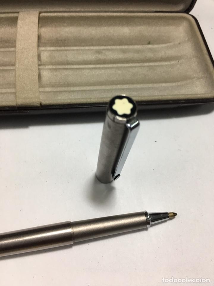 Bolígrafos antiguos: Bolígrafo Montblanc Noblesse lacado gris mate con su caja - Foto 6 - 158639389