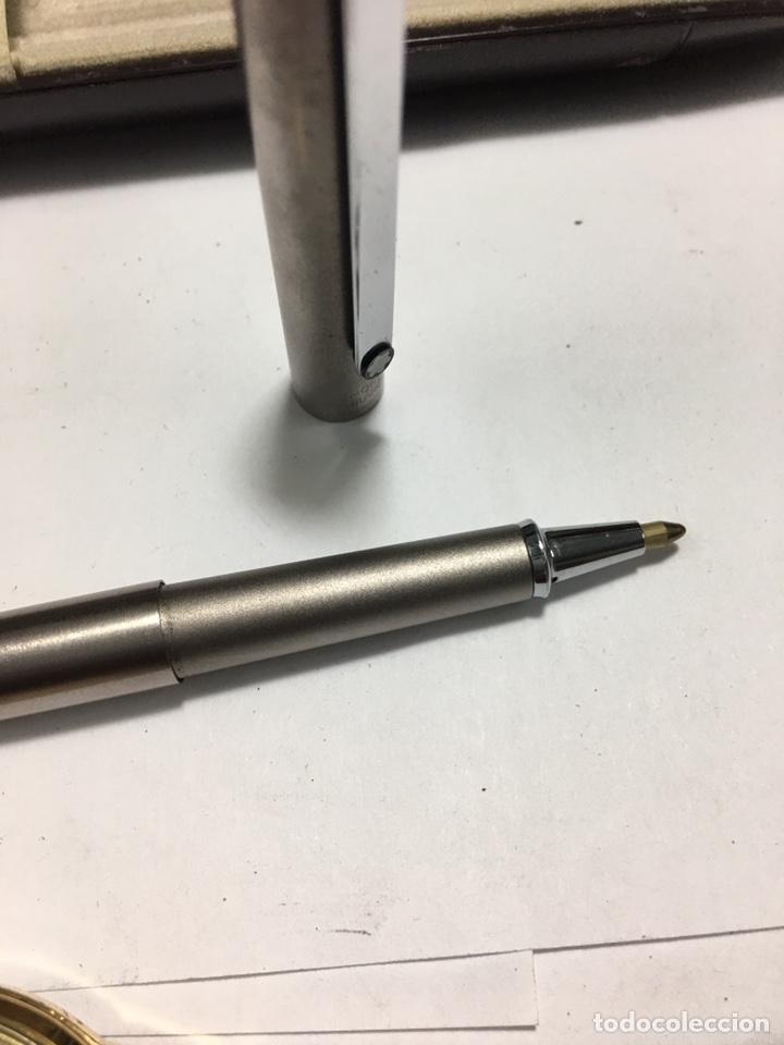 Bolígrafos antiguos: Bolígrafo Montblanc Noblesse lacado gris mate con su caja - Foto 7 - 158639389