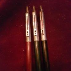 Bolígrafos antiguos: BOLIGRAFOS INOXCROM LOTE DE 3. Lote 154195198