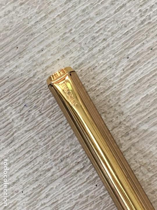 Bolígrafos antiguos: Bolígrafo SAROME dorado en perfecto estado - Foto 3 - 155890588