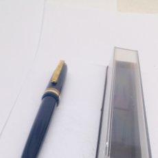 Bolígrafos antiguos: BOLÍGRAFO LACADO AZUL. Lote 155912872