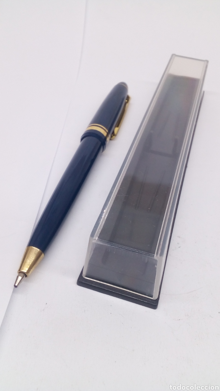 Bolígrafos antiguos: Bolígrafo lacado azul - Foto 2 - 155912872