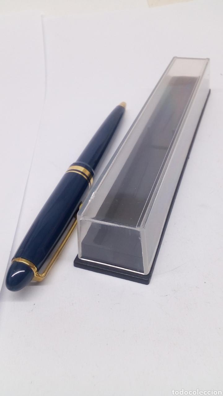 Bolígrafos antiguos: Bolígrafo lacado azul - Foto 3 - 155912872