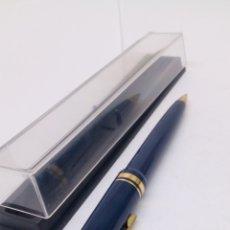 Bolígrafos antiguos: BOLÍGRAFO LACADO AZUL. Lote 155966836