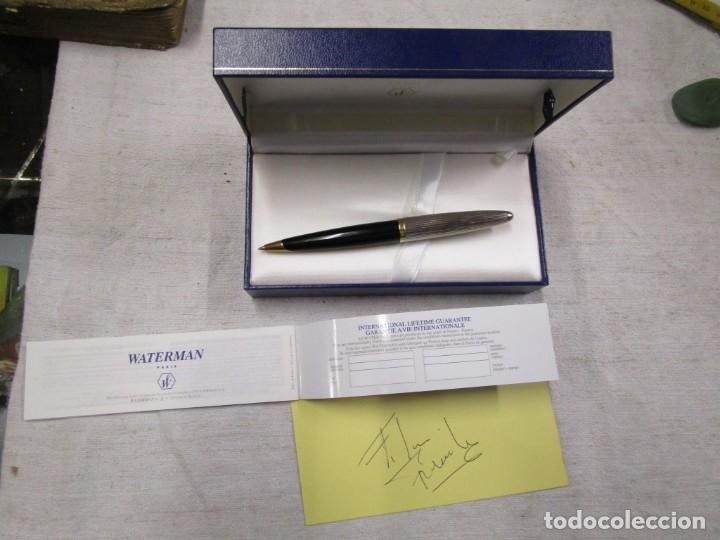 Bolígrafos antiguos: IMPECABLE BOLIGRAFO WATERMAN ' CARENE DE LUXE ' FRANCE, CHAPADO ORO Y PLATA + INFO Y FOTOS - Foto 6 - 156914790