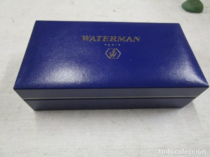 Bolígrafos antiguos: IMPECABLE BOLIGRAFO WATERMAN ' CARENE DE LUXE ' FRANCE, CHAPADO ORO Y PLATA + INFO Y FOTOS - Foto 7 - 156914790