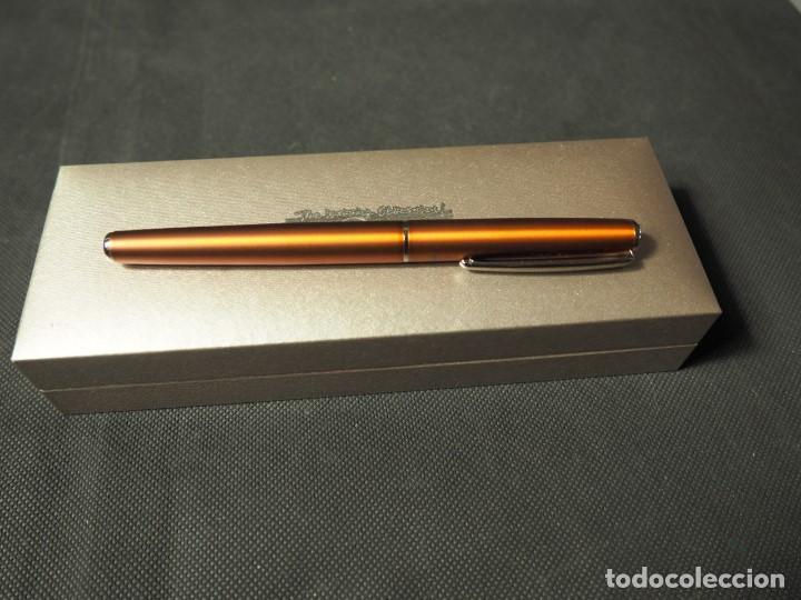 Alte Kugelschreiber: Bolígrafo Inoxcrom Roller Atlantic cobre. A estrenar - Foto 2 - 159118882