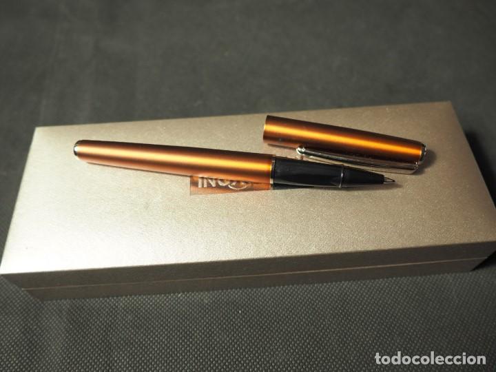Alte Kugelschreiber: Bolígrafo Inoxcrom Roller Atlantic cobre. A estrenar - Foto 3 - 159118882