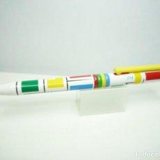 Bolígrafos antiguos: STYB BOLIGRAFO MODELO SUPER TWIST VARIEDAD COLOR CLIP AMARILLO. ESPAÑA 90'S. Lote 159294666