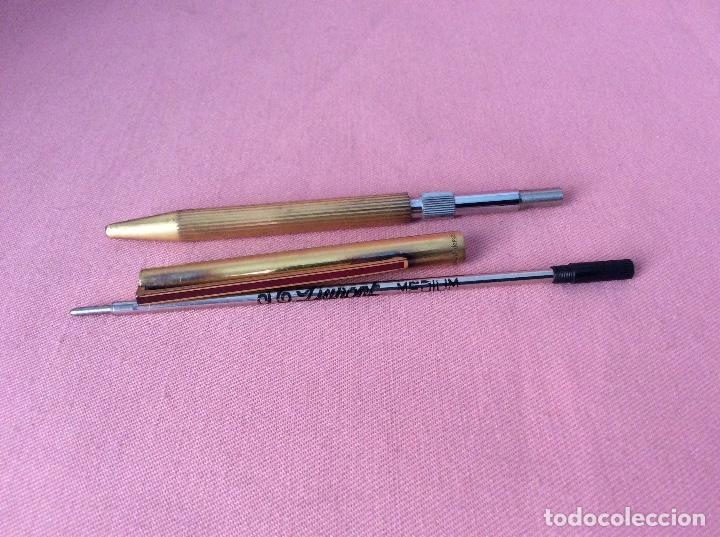 Bolígrafos antiguos: BOLÍGRAFO DORADO Y LACADO EN EL CLIP. PLATA 925. DUPONT. PARIS. LIMADO EN CAPUCHÓN. - Foto 11 - 159889470