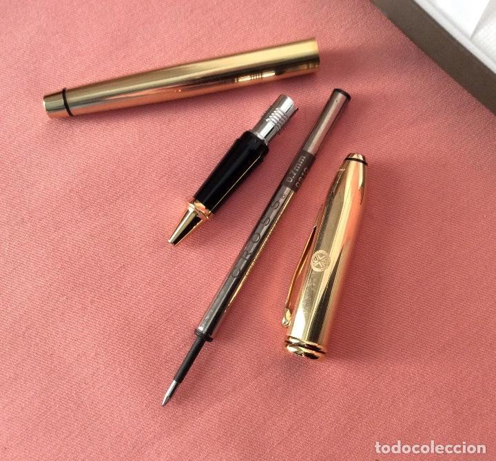 Bolígrafos antiguos: BOLÍGRAFO CON ESTUCHE. CROSS TOWNSEND. DORADO BAÑO ORO. - Foto 8 - 159892226