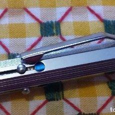 Bolígrafos antiguos: LOSTER. BOLÍGRAFO PLATEADO DE CUATRO COLORES AÑOS 70-80.80.. Lote 160429734