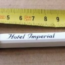 Bolígrafos antiguos: BOLÍGRAFO PUBLICITARIO - HOTELES - HOTEL IMPERIAL - SANT JULIA DE LÓRIA. Lote 161121714