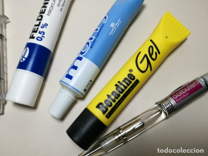Bolígrafos antiguos: lote 9 boligrafos especiales y marcadores publicidad medicamentos farmacia y uno con agua de canada - Foto 13 - 165364374