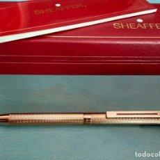 Bolígrafos antiguos: BOLÍGRAFO SHEAFFER MODELO 1009 CHAPADO EN ORO. Lote 166616338