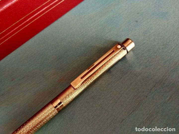 Bolígrafos antiguos: BOLÍGRAFO SHEAFFER MODELO 1009 CHAPADO EN ORO - Foto 6 - 199653235