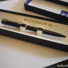 Bolígrafos antiguos: BOLIGRAFO WATERMAN EN ESTUCHE ORIGINAL WATERMAN CON ETIQUETAS. Lote 166616358