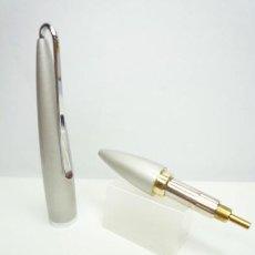 Bolígrafos antiguos: BOLIGRAFO TWIST POCKET BRONCE LACA BICAPA GRIS PLATA METALIZADA. Lote 167387524