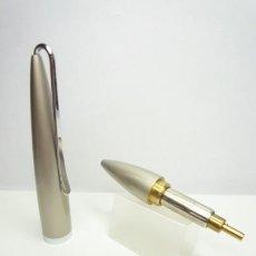 Bolígrafos antiguos: BOLIGRAFO TWIST POCKET BRONCE LACA BICAPA CHAMPAGNE METALIZADA. Lote 167389416
