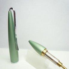 Bolígrafos antiguos: BOLIGRAFO TWIST POCKET BRONCE LACA BICAPA VERDE CLARO METALIZADA. Lote 167389932