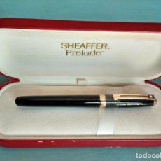 Bolígrafos antiguos: ROLLER SHEAFFER PRELUDE ACABADO EN LACA NEGRA BRILLANTE. Lote 167549872