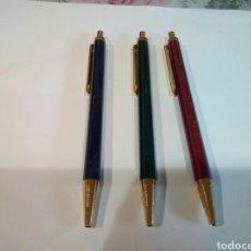Bolígrafos antiguos: LOTE DE 3 BOLÍGRAFOS SIN USO. Lote 168627498