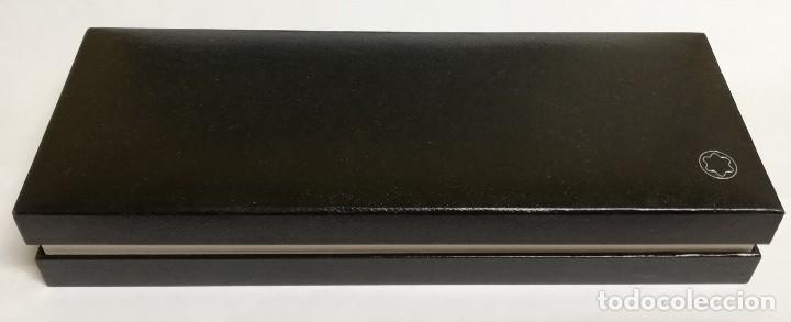 Bolígrafos antiguos: BOLIGRAFO MONTBLANC MEISTERSTÜCK PIX, DE RESINA NEGRA Y CLIP CON DETALLES PLATEADOS, GERMANY Y NUMER - Foto 7 - 168916952